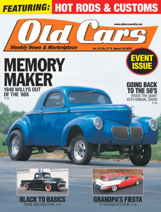 Old Cars Weekly Aug 30 2018
