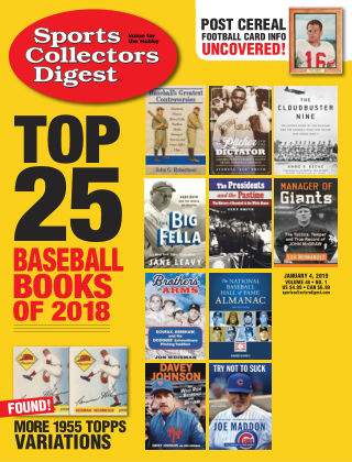 Sports Collectors Digest Jan 4 2019