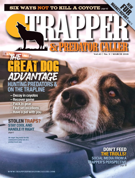 Trapper & Predator Caller February 25, 2018 00:00