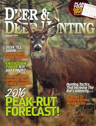 Deer & Deer Hunting November 2016