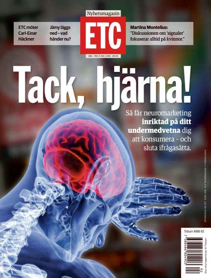 ETC (Inga nya utgåvor) December 21, 2018 00:00