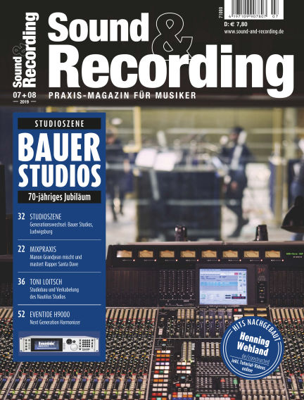 Sound & Recording July 05, 2019 00:00