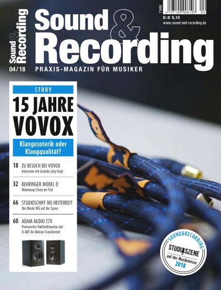 Sound & Recording April 01, 2018 00:00