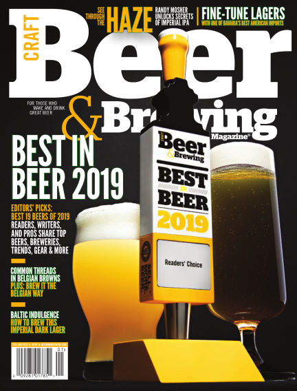 Craft Beer & Brewing November 02, 2019 00:00