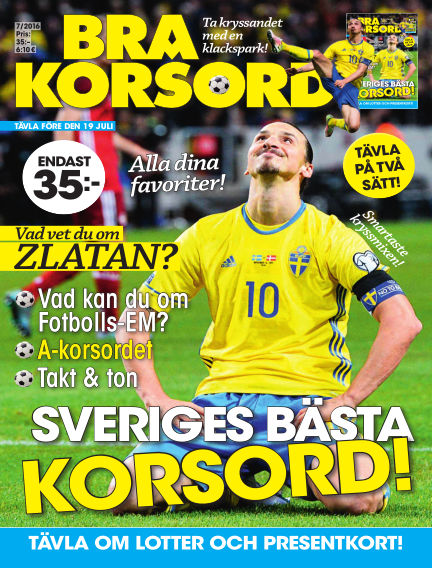 Bra Korsord June 07, 2016 00:00