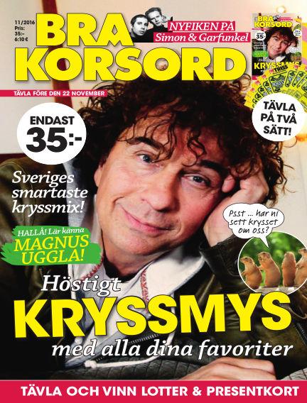 Bra Korsord October 18, 2016 00:00
