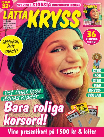 Lätta kryss February 19, 2016 00:00