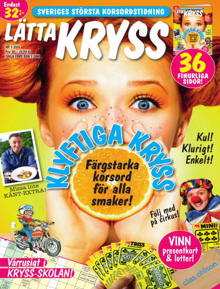 Lätta kryss April 26, 2016 00:00