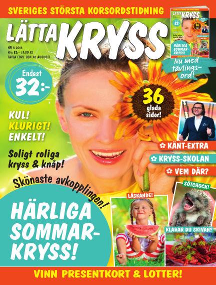 Lätta kryss July 26, 2016 00:00