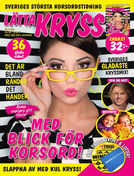 Lätta kryss October 25, 2016 00:00