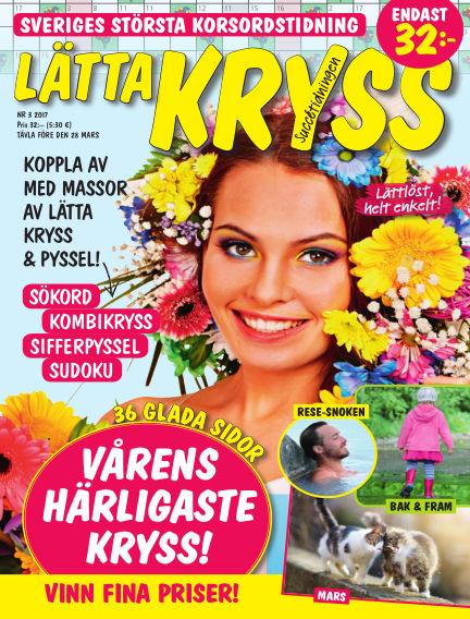 Lätta kryss February 21, 2017 00:00