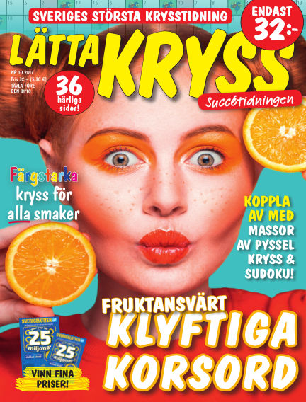 Lätta kryss September 19, 2017 00:00