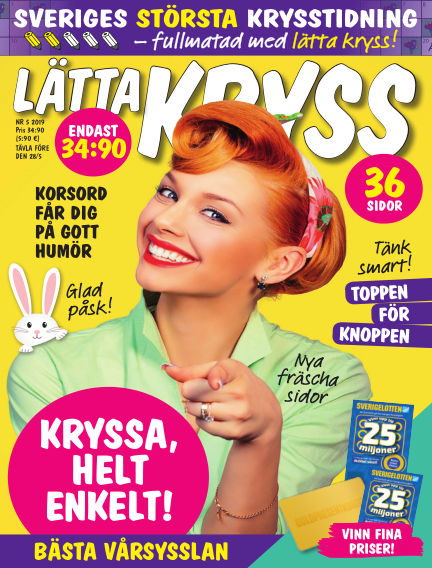 Lätta kryss April 16, 2019 00:00