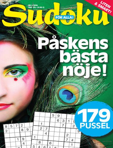 Sudoku för alla February 19, 2016 00:00