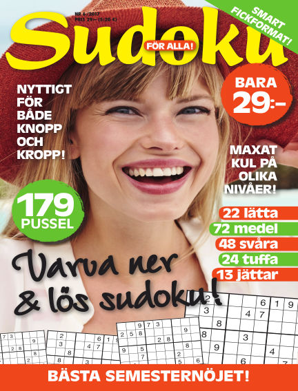 Sudoku för alla May 30, 2017 00:00