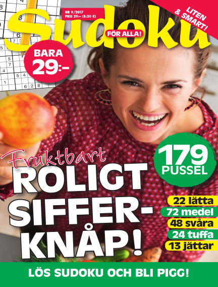 Sudoku för alla August 29, 2017 00:00