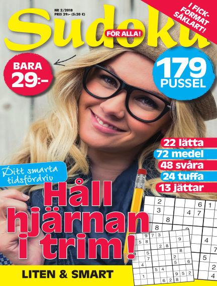 Sudoku för alla January 23, 2018 00:00