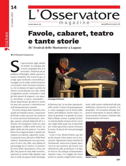 L'Osservatore Magazine October 13, 2018 00:00