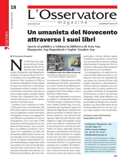 L'Osservatore Magazine November 10, 2018 00:00
