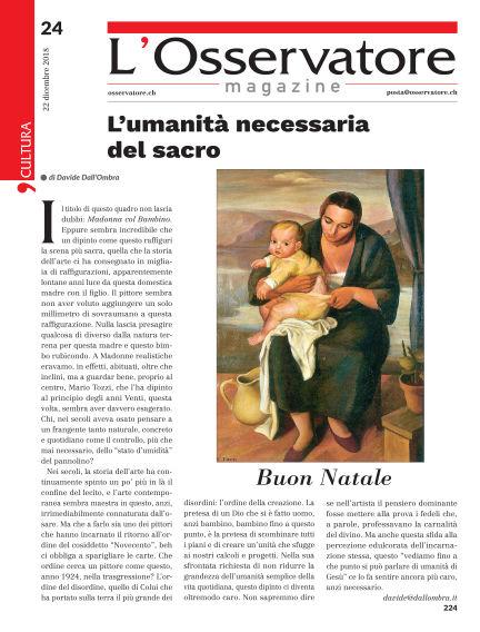 L'Osservatore Magazine December 22, 2018 00:00