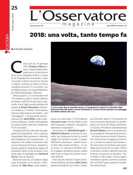 L'Osservatore December 29, 2018 00:00