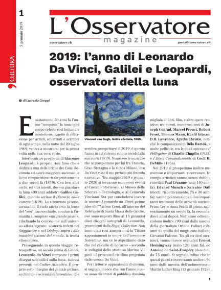 L'Osservatore January 05, 2019 00:00