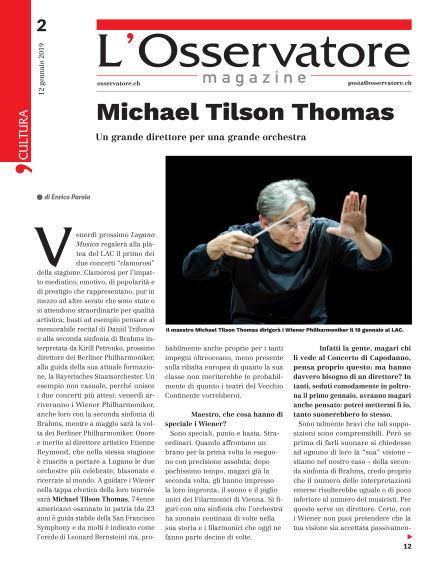 L'Osservatore Magazine January 12, 2019 00:00