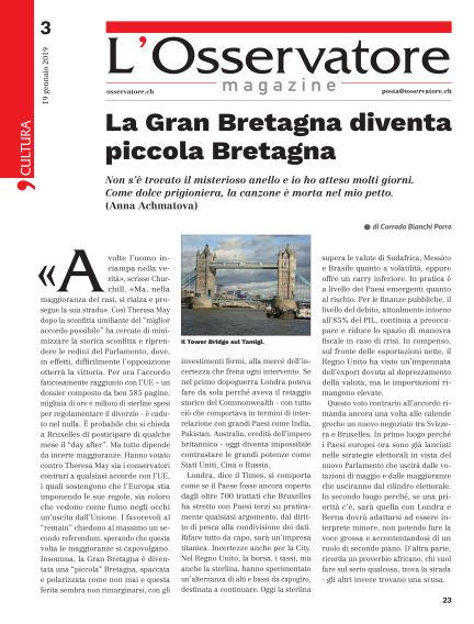 L'Osservatore Magazine January 19, 2019 00:00