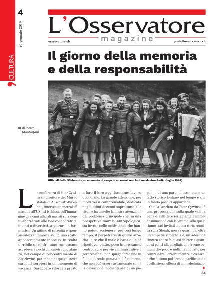 L'Osservatore Magazine January 26, 2019 00:00