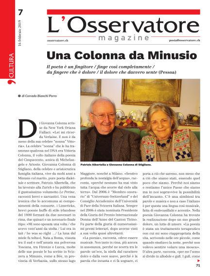L'Osservatore Magazine February 16, 2019 00:00