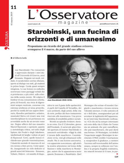 L'Osservatore Magazine March 16, 2019 00:00