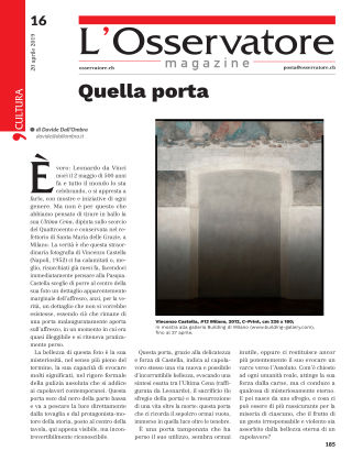L'Osservatore 16/2019