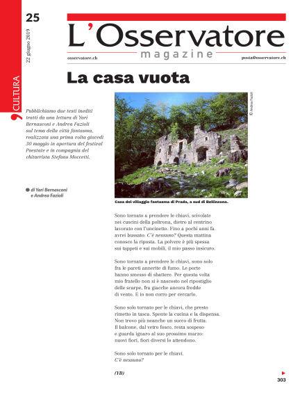 L'Osservatore Magazine June 22, 2019 00:00