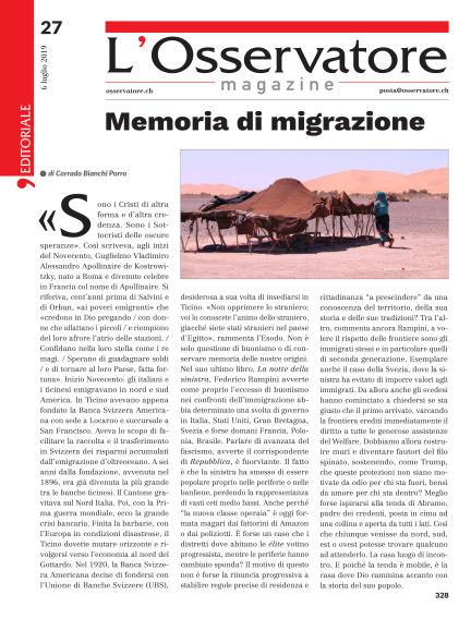L'Osservatore Magazine July 06, 2019 00:00