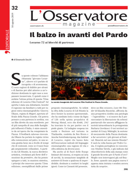 L'Osservatore Magazine August 10, 2019 00:00