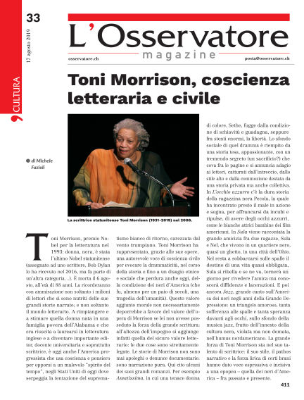 L'Osservatore Magazine August 17, 2019 00:00