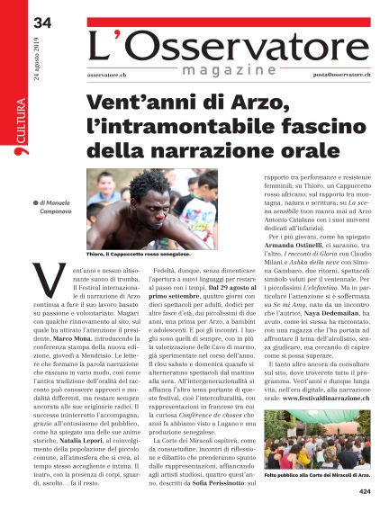 L'Osservatore Magazine August 24, 2019 00:00