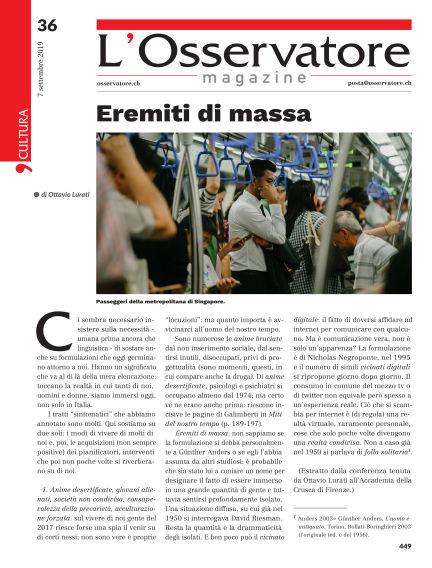 L'Osservatore Magazine September 07, 2019 00:00