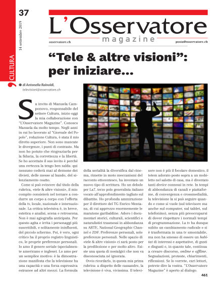 L'Osservatore Magazine September 14, 2019 00:00