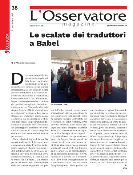 L'Osservatore Magazine September 21, 2019 00:00