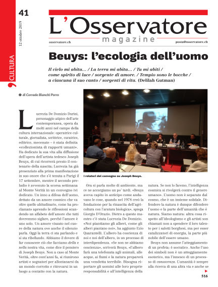L'Osservatore Magazine October 12, 2019 00:00