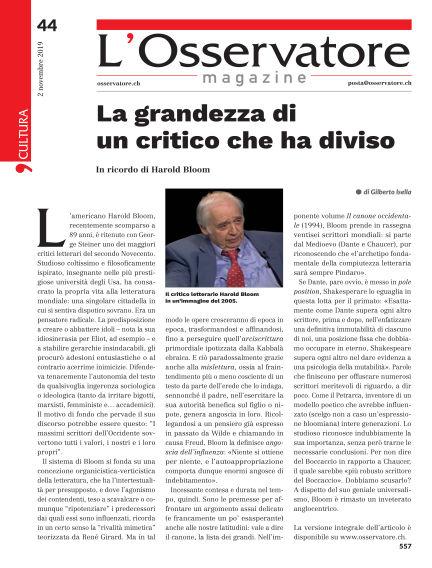 L'Osservatore Magazine November 02, 2019 00:00