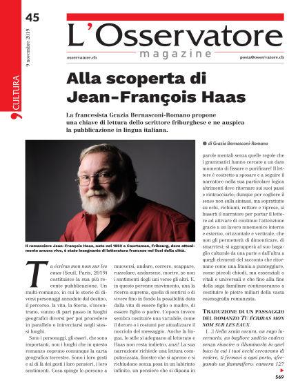 L'Osservatore Magazine November 09, 2019 00:00