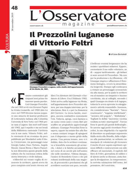 L'Osservatore Magazine November 30, 2019 00:00