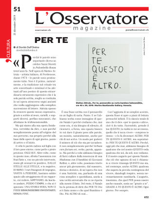 L'Osservatore 51/2019