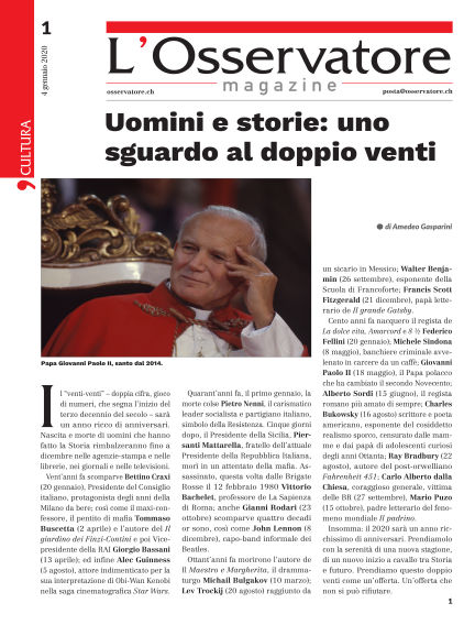 L'Osservatore Magazine January 04, 2020 00:00
