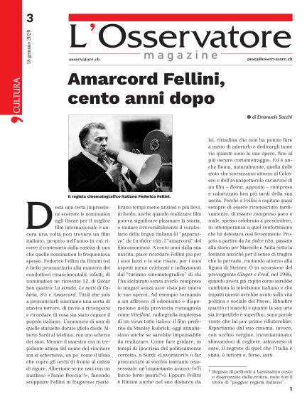 L'Osservatore Magazine January 18, 2020 00:00