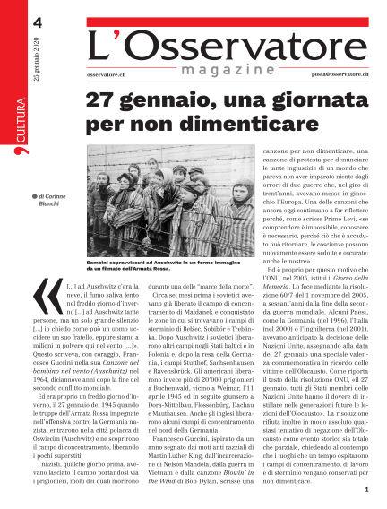 L'Osservatore Magazine January 25, 2020 00:00