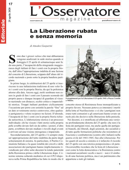 L'Osservatore Magazine April 25, 2020 00:00