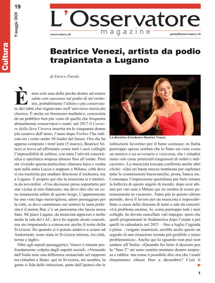 L'Osservatore Magazine May 09, 2020 00:00